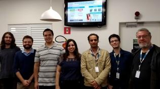 BioLive team: Waldir, William, Rafael, Fernanda, Ricardo, Gabriel, and Jacques.